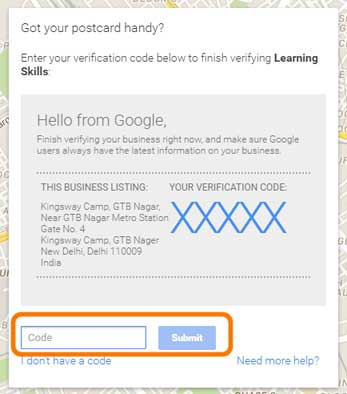 add-your-code-here-on-Google-My-Business