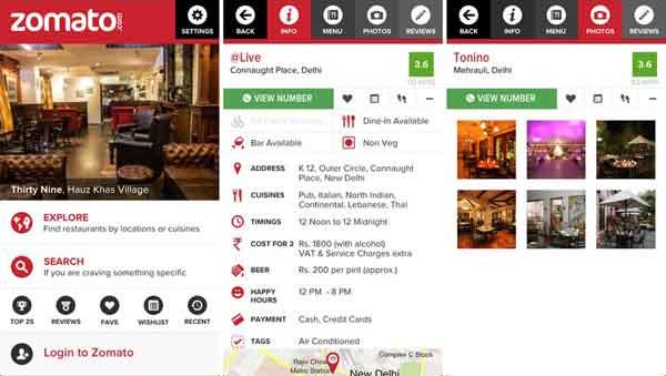 restaurant listing site