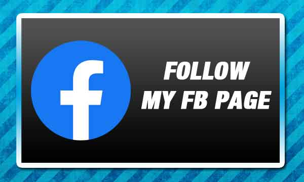 Follow My Facebook Page