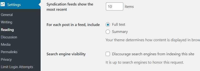 Google Crawling Setting in WordPress