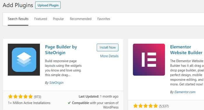 Page Builder WordPress Plugins